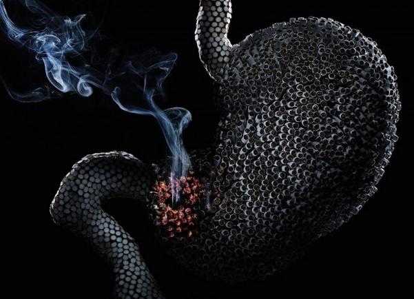 Влияние курения на желудок